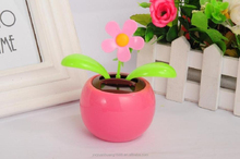 2015 newest solar energy toys solar powered swing flip flap dancing flowers, car decorative gift sun doll factory wholesale