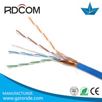 High Quality Solid Bare Copper SFTP Network Cable CAT5e with rational Price