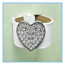 2015 Factory direct cheap custom leather bracelet charm bracelet
