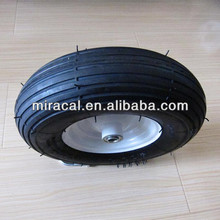 OEM small pneumatic rubber wheels 4.00-8 straight burr for Wheelbarrow