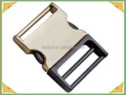 half plastic gold plating metal side release buckle