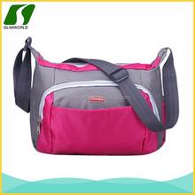 2015 promotion fashion outdoor sport plum durable polyester adjustable long strap shoulder bag for girls