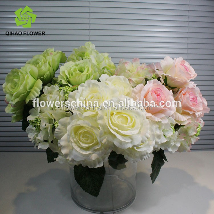 Wholesale Cheap Artificial Hydrangea Flowers For Wedding Decorative