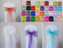 Delicately Fancy Ribbons Chair Sashes for Wedding Banquet