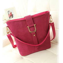 2014 grind arenaceous leather young girl shoulder bags