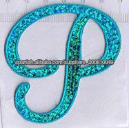 Leterme diseño de bordado de lentejuelas P