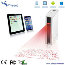 wireless virtual laser bluetooth keyboard with 5200mA power bank for smartphone tablet PC