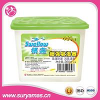 reusable indoor calcium chloride air moisture absorber efficient anti-mold desiccant use /dehumidifier 270g(500ml)