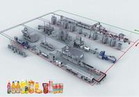 Full automatic bottled milk beverage production line of milk beverage production line of fruit and vegetable juice processing be