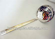 Kitchen skimmers with gold-plated surface sand blasting process handle