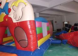 Boy Printing Sporting Game Inflatable Bouncer With Basketball Hoop