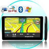 6 Inch Touchscreen Car GPS w/ Bluetooth + Wireless Camera