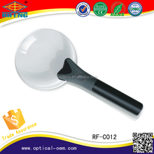 hand held magnifying mirror and magnifying glass with light, use plastic magnifying lens