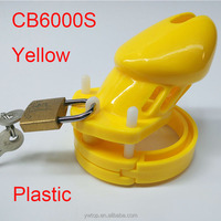 Male Chastity Belt CB6000s Yellow Penis Cage Cock Lock 5 size Ring Chastity Lock Belt Adult Game Sex SM Adult Fun toys for male