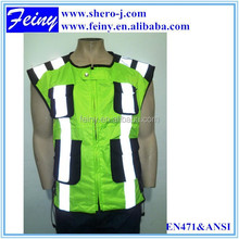 promotion motorcycle/cycling fluorescent green hi vis safety vest