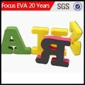 Eva lettres de l'alphabet, mousse eva 3d lettre de gros en chine