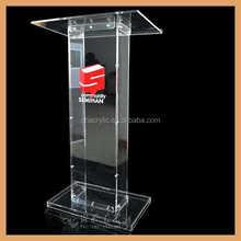 Plexiglass modern acrylic lectern & podium & pulpit & rostrum