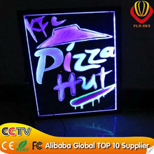 alibaba toughen tempered glass new technology hight quality aluminium alloy LED writing board