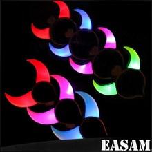 Party supplies Luminous LED Flashing Ox Horn, Lamp King Head Hoop Shining Horn