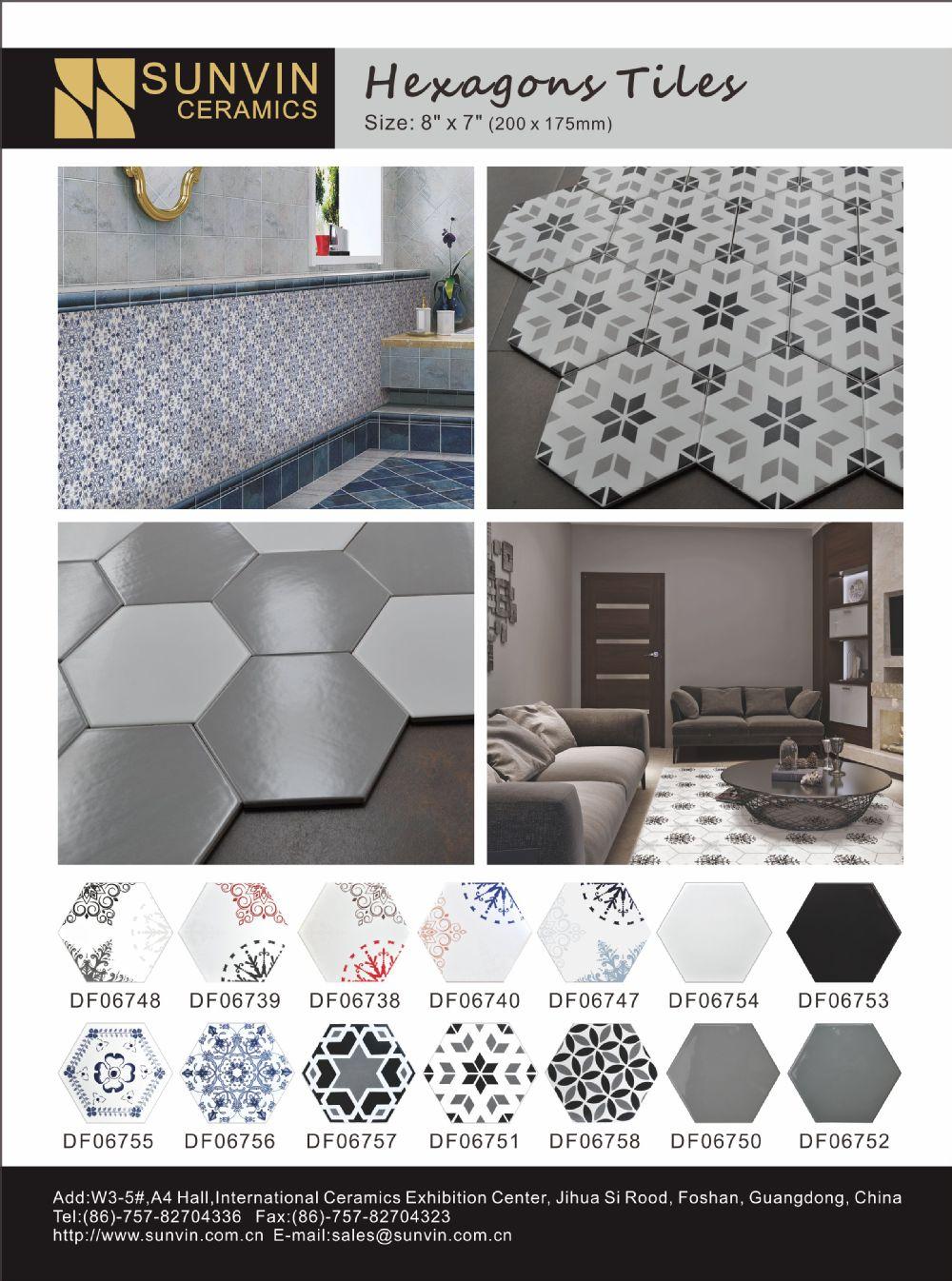 foshan cina esagonale arte piastrelle in ceramica per pavimenti e ...