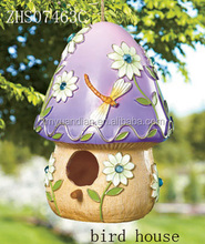 Hot sale mushroom design resin bird house