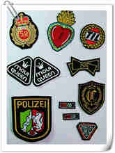 Crown labels embroidered patches and blazer badges