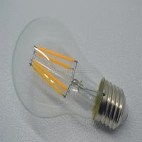 BAIHUI LED Filament bulb lamp transparent glass A60 lights