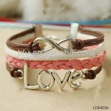 2014 multi-chain quality fashion velvet bracelets fashion multi-chain love bangles