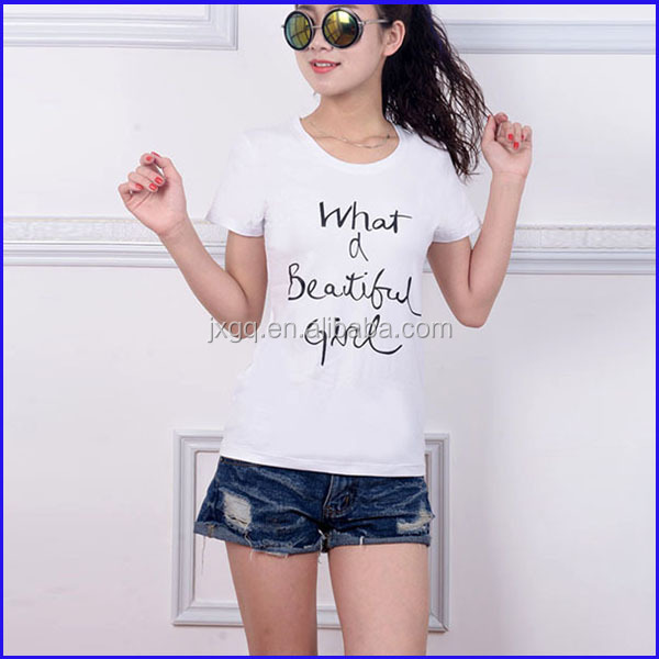 Bulk Sale White Color Letters Printed Clothing Factories
