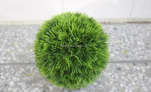 ornamrnt Plastic factory direct Grass ball indoor/ourdoor sale artificial grass topiary