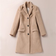 Woolen overcoat for women adult ladies 2015 winter new design long stylish coat outwear OEM service