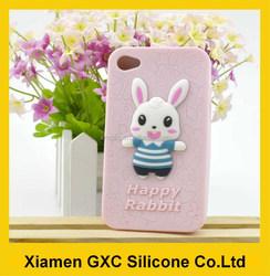 funny happy rabbit silicone for samsung galaxy s3 case