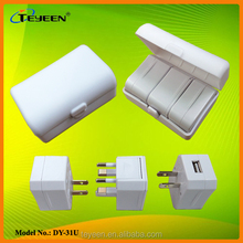 Universal Travel Adapter with USB charger for Worldwide use