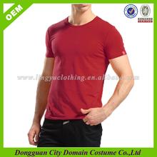 Wholesale Custom Blank Plain Dyed Crew Neck Slim Fitted T-shirts (lvt010001)