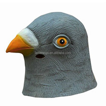 Pigeon Mask Creepy Halloween Animal Costume Theater Prop Novelty Latex Rubber Party Mask