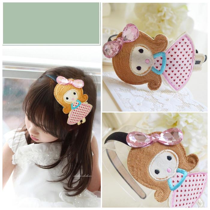 2015 regalo de navidad princesa hairbands de la venda del bebé estilo coreano accesorios del pelo