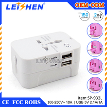 Best price latest international travel adaptor with usb for business travel