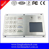 Panel Mount Industrial Metal Numberic Keypad With Touchpad