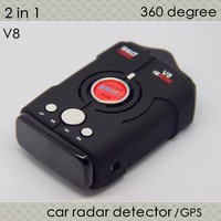 updated model V8 with buttons full X K Ku Ka Laser VG-2 motion radar sensor detector anti radar built-in russian gps navigator