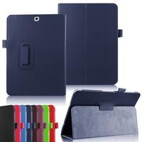 "For samsung tab s2 T815 9.7"" case, Litchi Pattern Folio Folding stand Case for Samsung Tab S2 T815"