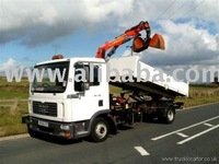 Man Tipper Dumping Truck