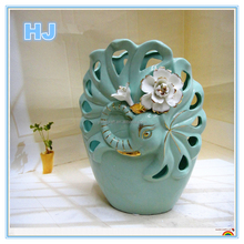 2015 designs modern hollow ceramic vase for centerpiece or home decoration