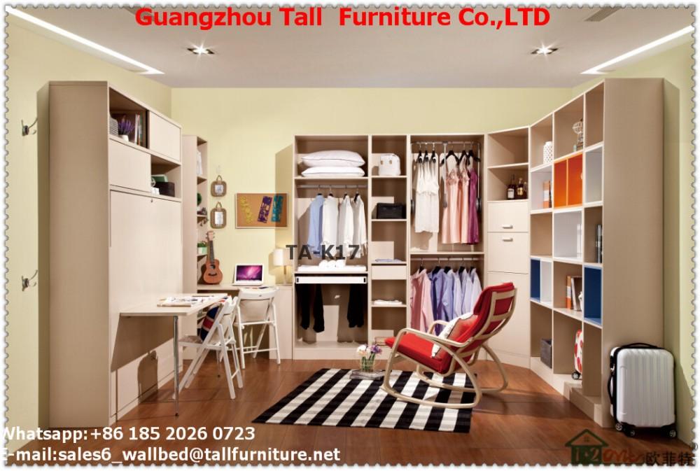 Italia estilo de muebles para el hogar murphy pared cama con somier ...