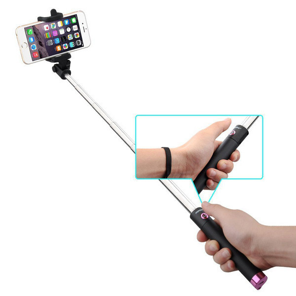 wholesale high quality extendable with remote shutter wireless monopod bluetooth mini selfie. Black Bedroom Furniture Sets. Home Design Ideas