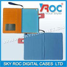 2013 Light Blue Ball grain design leather case suitable for ipad mini