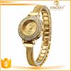 2015 New Fashion vogue Japan movt gold chain wristwatch thin watch