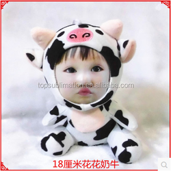 Cute 3D Face Doll Animal Party Decorate Plastic Toys Maker