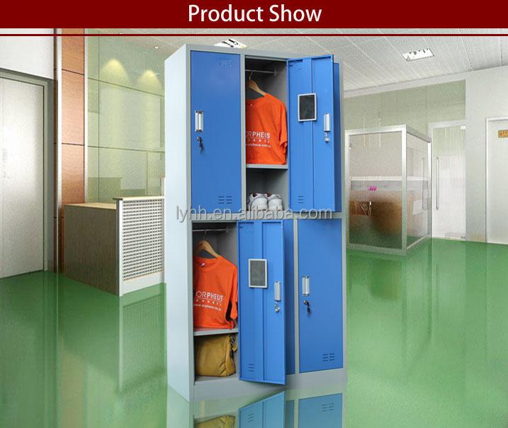 New Steel Locker Office Furniture 6 Door Storage Wardrobe  -> Casier Metal Ikea