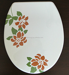 custom designed novelty printed duroplast toilet seat