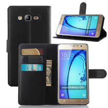 New phone case cover for Samsung Galaxy on7 leather flip cover Mobile Phone Accessories